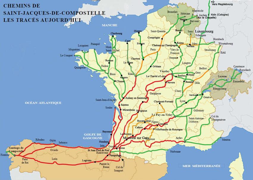 chemin saint jacques de compostelle carte carte interactive